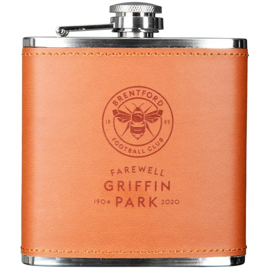 FGP Leather Bound Hip Flask