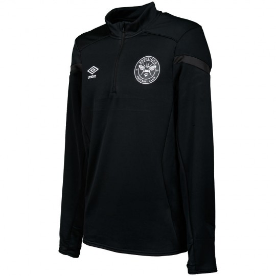19/20 Training Half Zip Top Black/White