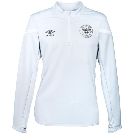 19/20 Junior Half Zip Top Grey/White
