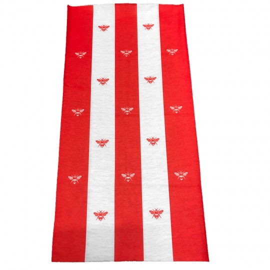 Bees Snood - Red/White