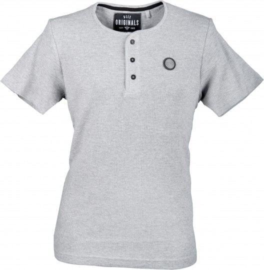 Bees Originals Button Tee Grey