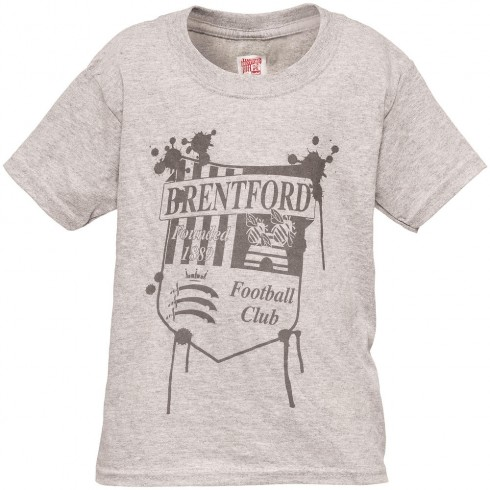 DRIPPING CREST T-SHIRT GREY
