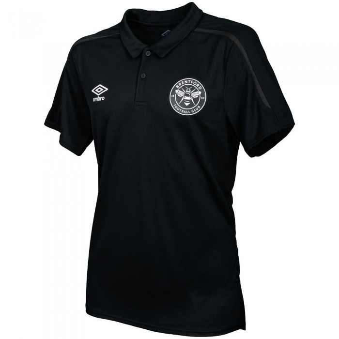 19/20 Junior Training Polo Black/White