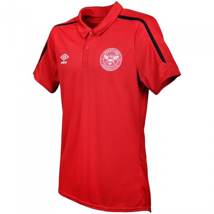 19/20 Junior Training Polo Red/Black
