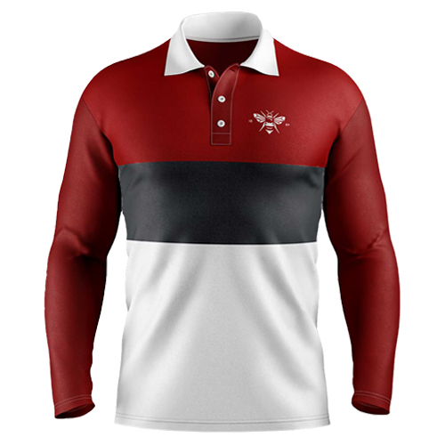 1889 Collection LS Double Stripe Polo