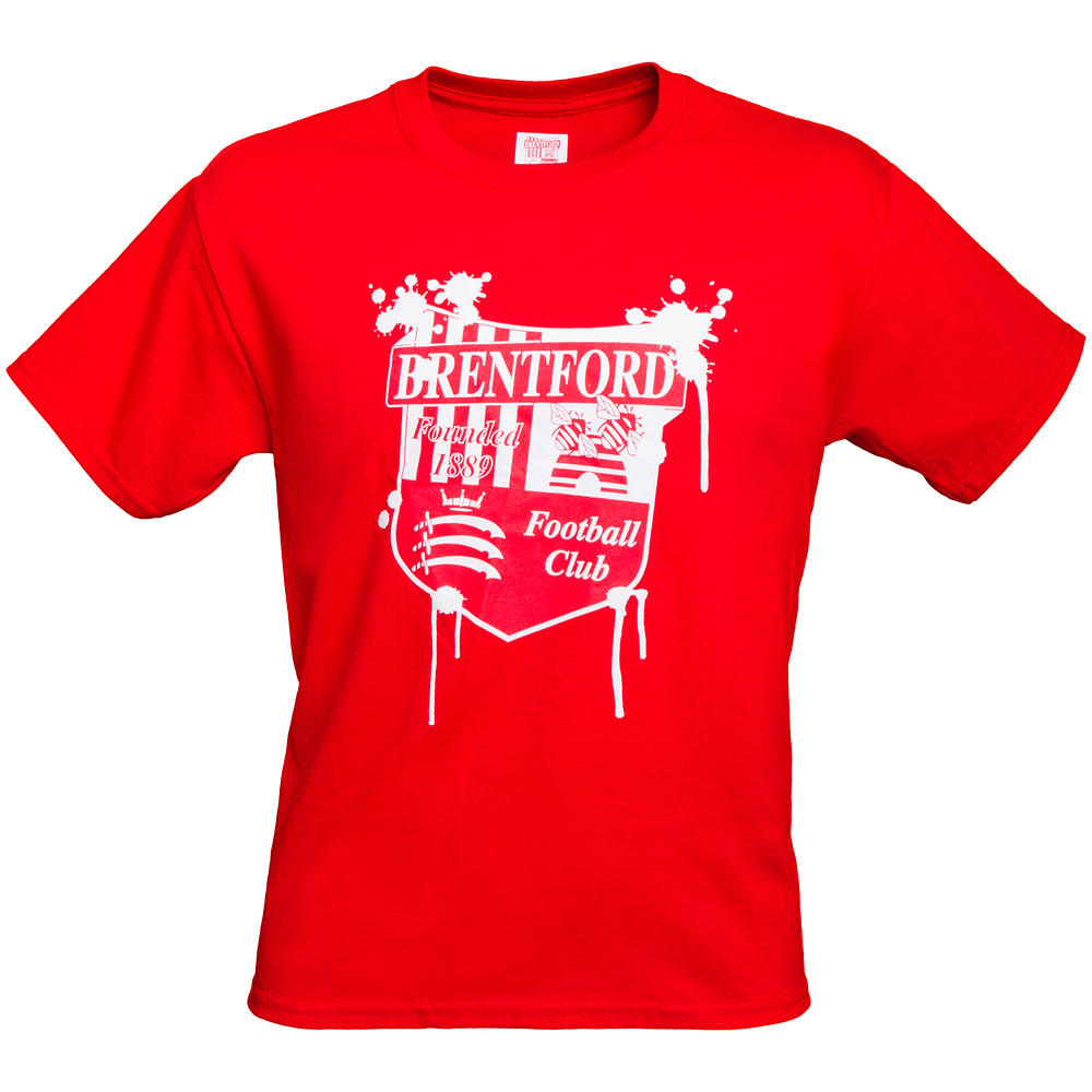DRIPPING CREST T-SHIRT RED